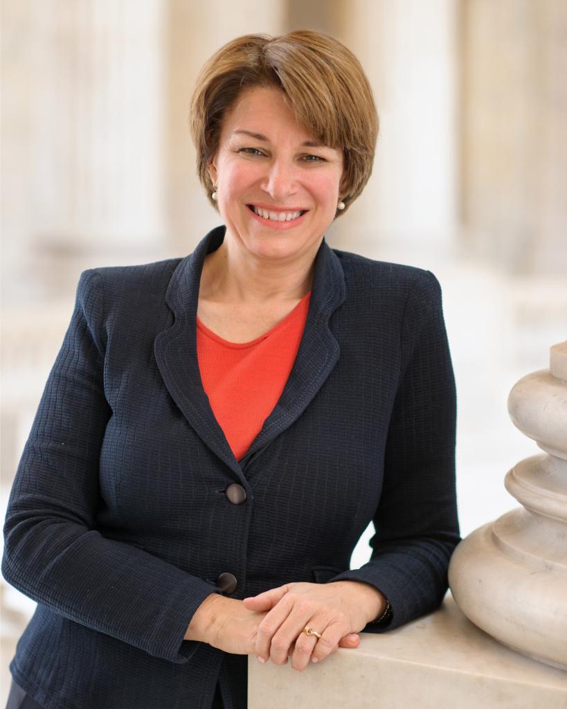 A photo of Democratic Senator Amy Klobuchar.