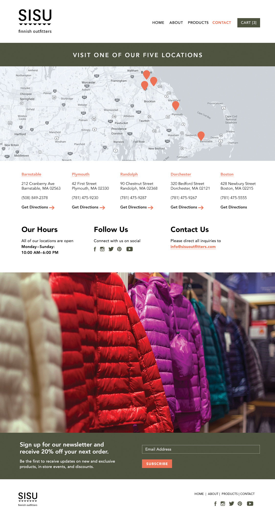 ecommerce website design tips - #7- use scannable content - mockup website with color blocks and content that is easily scannable