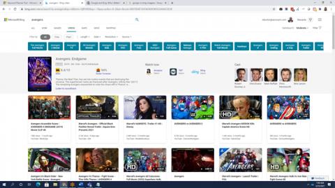 Microsoft Bing video search