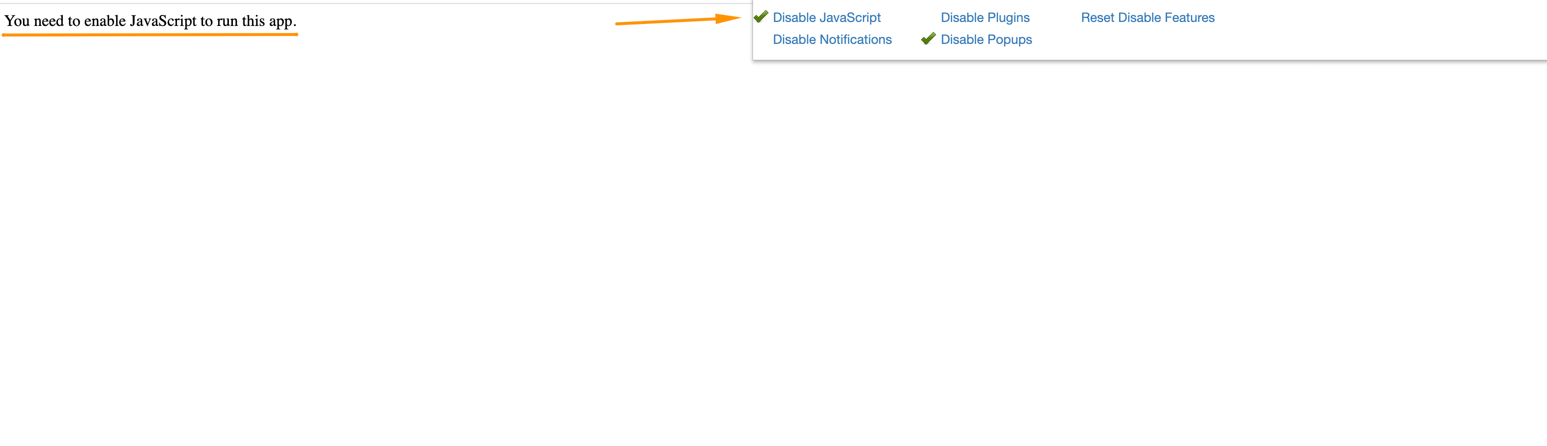 Open settings, click Disable JavaScriptand reload the page.